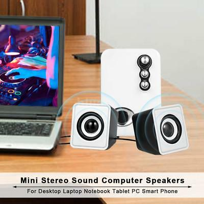USB Audio Music Player Wired Speaker Box HiFi Multimedia Computer PC Laptop P2L3