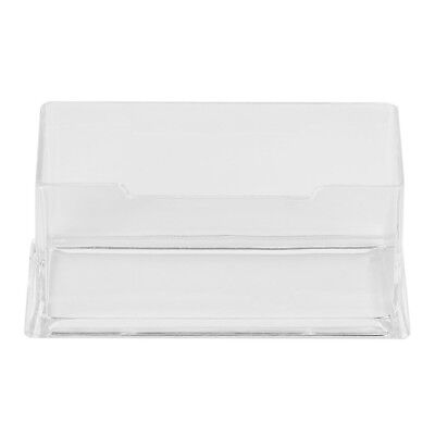 Clear Desktop Business Card Holder Display Stand Acrylic Plastic Desk Shelf GL