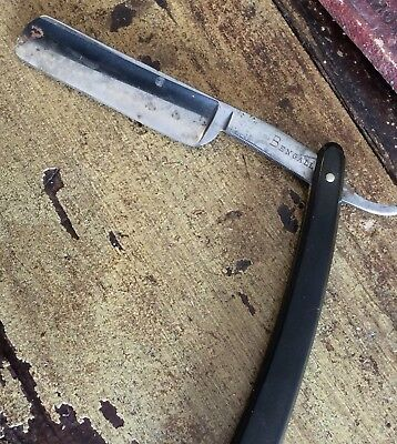 Antique Cut Throat Hand Forged Bengall Razor Made in Sheffield England