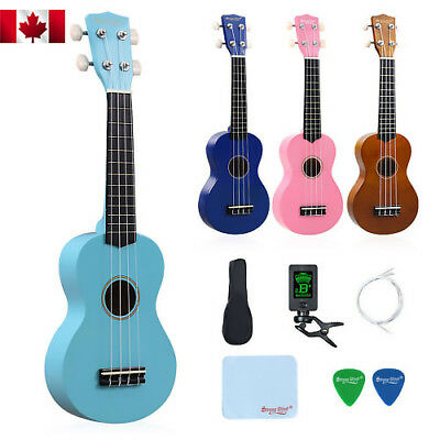 21 Inch Soprano Ukulele for Beginners Hawaii Children Ukulele with Starter Kits