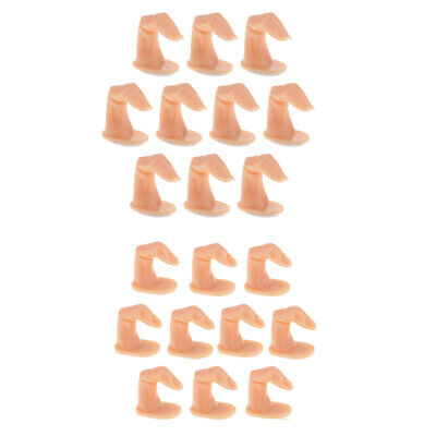 10pcs Fake Fingers Practice Tool Model for Hand Manicure Nail Art Gel Training