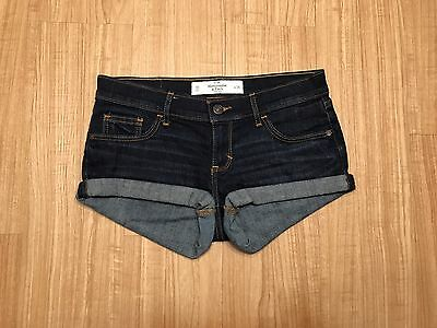 Abercrombie & Fitch Sexy Lil Daisy Dukes Dark Wash Jean Shorts Size 00 Inseam 2