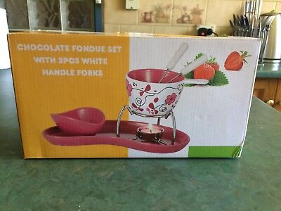 Chocolate Fondue Set with Tray
