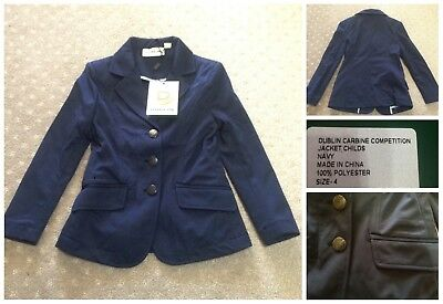 New Dublin Carbine navy competition jacket, childs sz 4