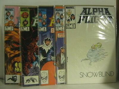 ALPHA FLIGHT '83-'84 Comics Lot of TEN Issues 1-10 Bagged & Slabbed