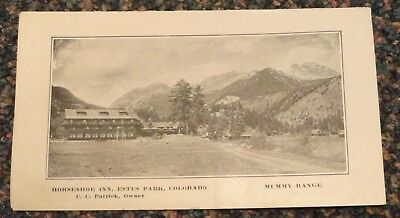 c1915 Colorado Estes Park Houseshoe Inn tourist brochure - C C Patrick, owner