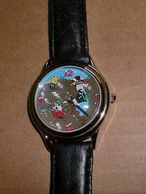 Fossil Sylvester, Tweety & Sylvester Jr. Watch-Rotating Disc w/ printed snow
