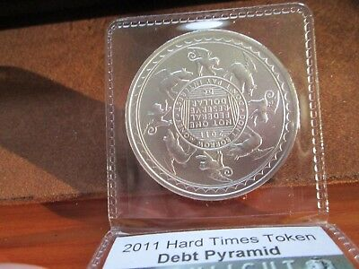Daniel Carr Silver 2011 Debt Pyramid Flying Circus Hard Times Token 1 oz Silver