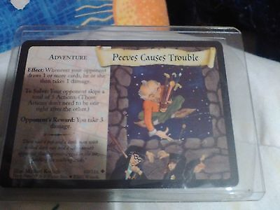 """Nrfp! Harry Potter Trading Card! Nrfp #60 """"peeves Causes Trouble""""! Look!"""