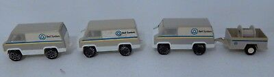 Vintage Tonka Bell System Toy Work Vans With One Trailer