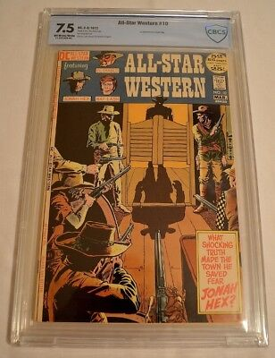 All Star Western #10 Cbcs 7.5 Ow/w 1St Appearance Of Jonah Hex