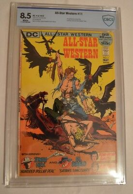 All Star Western #11 Cbcs 8.5 White Pages 2Nd Appearance Of Jonah Hex