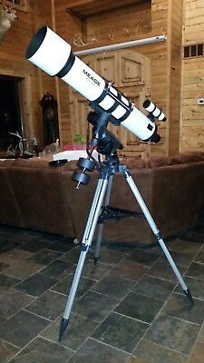 "Meade LXD55 EMC Telescope, 6"" refractor with tri-pod and go-to Mount."
