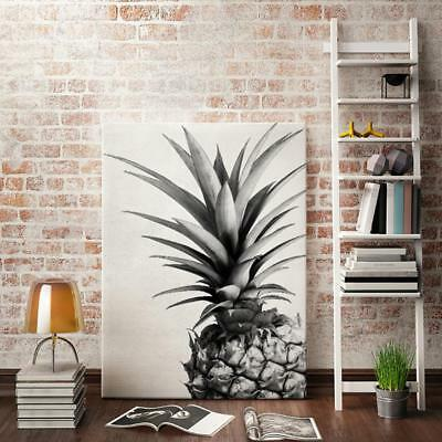 Modern Pineapple Black and White Canvas Prints Artwork Painting Picture M