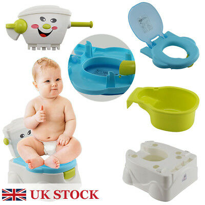 2 in 1 Baby Toilet Trainer Child Toddler Kid Music Potty Training Seat Fun UK