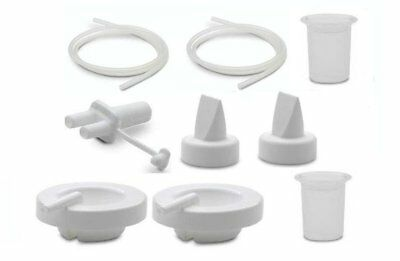 New AMEDA Spare Parts DIAPHRAGMS VALVES TUBING BOTTLE ADAPTER Baby Breast pump