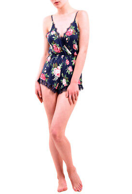 Wildfox Women's NBW Gypsy Rose Open Back Romper Multi Size XS RRP $118 BCF76