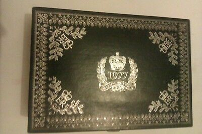 Collectible 1977 Silver Jubilee Stationary/Jewellery/Memento box.silver embossed