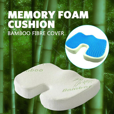 Memory Foam Seat Cushion Cooling Gel Lumbar Back Pillow Support Coccyx Seat