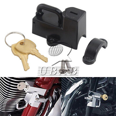 Motorcycle Black Helmet Lock Anti-theft Security Locker Tube 7/8'' with2 keys