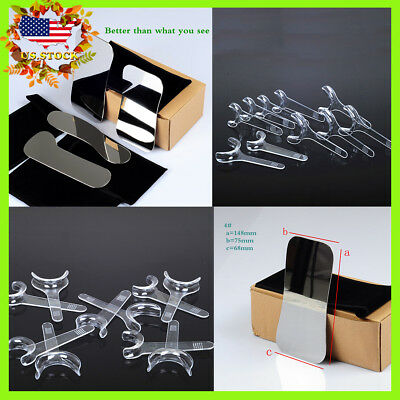 4*New Orthodontic Dental Intraoral Clinic Photography Mirror +10Pcs Mouth Opener