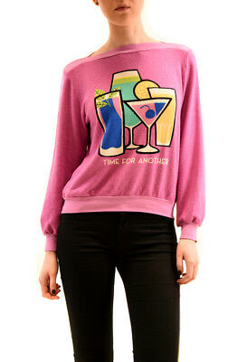 Wildfox WomensTime For Another Brunch Jumper Lavender Pink S RRP 95 $ BCF73