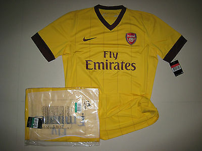 20d74beac1d Arsenal 2010-11 NIKE Away UEFA Champions League version S S Player issue  Shirt