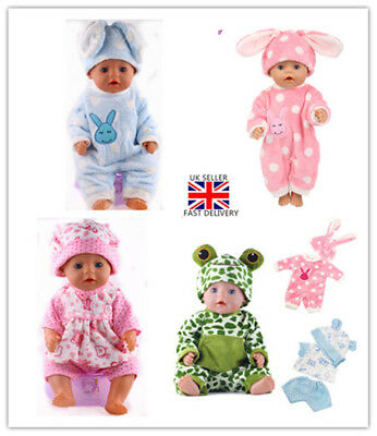 Baby Born Doll Clothes Fit Zapf Jumpsuit Suit Doll Pajamas Sleeping Clothes UK