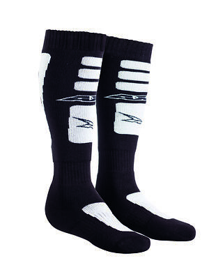2018 AXO Motocross Socks - Black & White - One Size - Motocross, Enduro, Trials