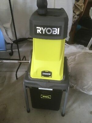 Ryobi™ 2400W Electric Garden Shredder Mulcher Wood Chipper Machine. 40L