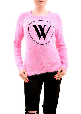 Wildfox Womens Wildfox Logo Sweater Dream House Pink Size S RRP £185 BCF75