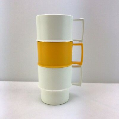 Set of 3 Tupperware Vintage Brand New Stackable Mugs/Cups Travel Camping Picnic