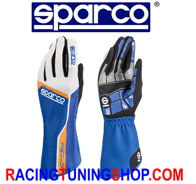 GUANTI KART SPARCO TRACK KG-3 ADULTO E BAMBINO blu KARTING GLOVES HANDSCH