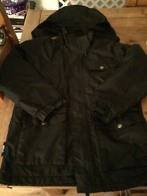 boys coat aged 9 - 10 windproof and shower proof fleece lined back