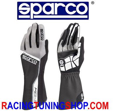 GUANTI KART SPARCO TRACK KG-3 ADULTO E BAMBINO neri KARTING GLOVES HANDSCH