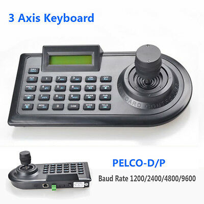 3D 3 Axis RS485 Analog CCTV Keyboard Controller Joystick for Security PTZ Camera