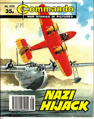 COMMANDO COMIC  War Stories in Pictures #2434 NAZI HIJACK Action Adventure