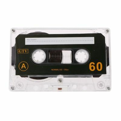 Standard Cassette Blank Tape Empty 60 Minutes Audio Recording For Music Player