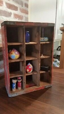 Vintage Coca-Cola - Wooden Crate - Bottle Carrier - Wall Shelf - Many uses!