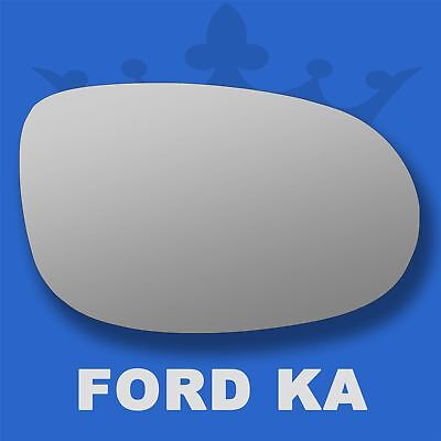 Ford Ka Wing Door Mirror Glass   Right Driver Side Flat