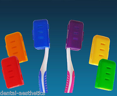 Toothbrush Cover for Head x 6 Colours ~Adult Toothbrush Travel Case Family Pack