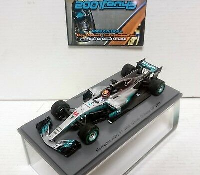 Mercedes F1 W08 #44 Hamilton Worldchampion Winner China Gp 2017 1/43 Spark S5030