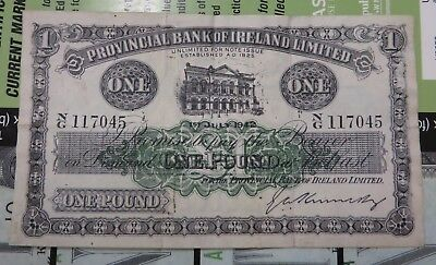 Northern Ireland Provincial Bank of Ireland Limited £1 dated 1st July 1942 RARE
