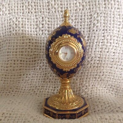 Rose Bouquet Clock Miniature Limited Edition House of Faberge MA 4652
