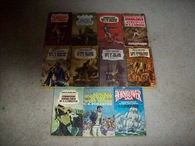 Horatio Hornblower Complete  / C. S. Forester / 11 books, acceptable condition