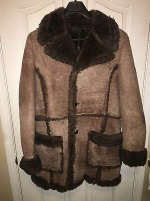 Mens Marlboro Man Shearling Coat by Leather-Mate's of New York size 42