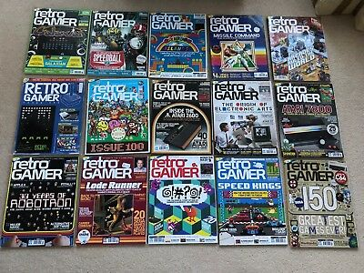 ** Retro Gamer Magazine 15 issues: 32 - 150 **