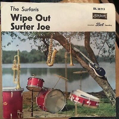 7'Surfaris. >Wipe out/Surfer Joe< LONDON   Germany SURF-Kult!