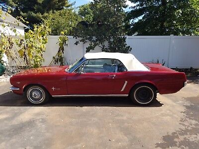1965 Ford Mustang White w/ Black Trim 1965 Ford Mustang Convertible Fully Restored