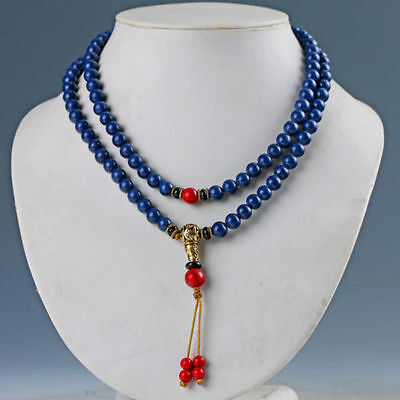 Collection Chinese Natural Lapis Lazuli & Red Coral Handwork Necklaces & Pendant